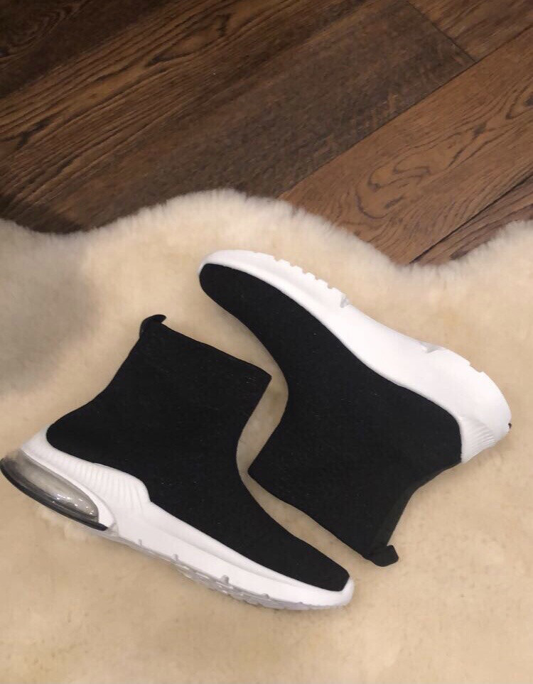 Black Sock Trainer With Air Bubble