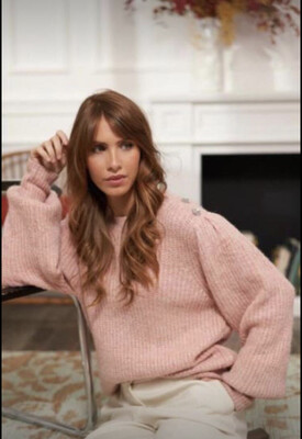Lea Rose Knit with Decorative Button Detail