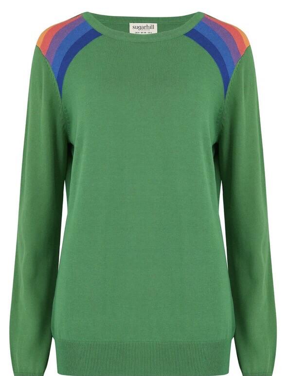 Rita Jumper - Green, Double Prism