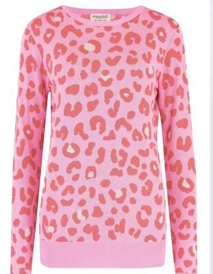 Callie Jumper - Pink, Candy Leopard Spot