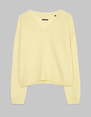 Bleached Sun V-Neck Jumper of Alpaca Wool