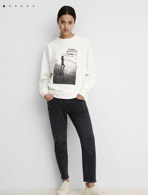 SUSTAINABLE Paper White Organic Cotton Sweatshirt