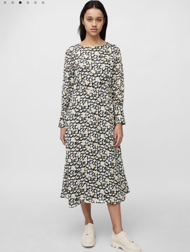 SUSTAINABLE Multi Dress in Printed Viscose Fabric