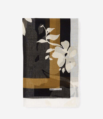 SUSTAINABLE Oso Multi Scarf Camel, Cream and Black