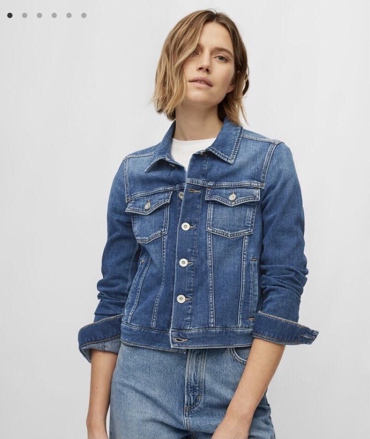 SUSTAINABLE Cashmere Touch Dark Blue Denim Jacket
