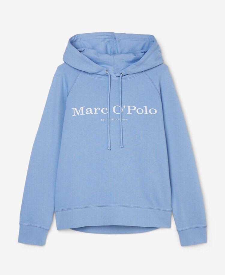Organic Cotton Hooded Sweatshirt - Blue Note