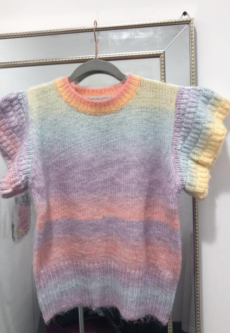 Rainbow Short Sleeved Knit
