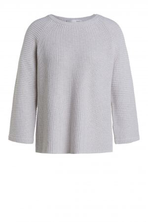 Off White Knitted Cotton Jumper with Overlapping Back