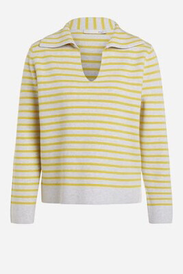Light Grey & Yellow Cotton Knit