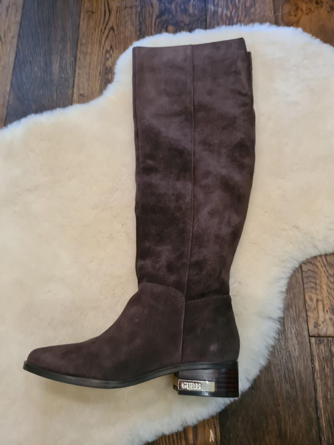 Pavlina Brown Suede Over The Knee Boot