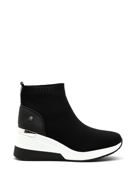Black Wedge Sock Style Trainer
