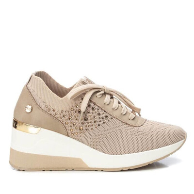 Nude/Pink Runner Wedge