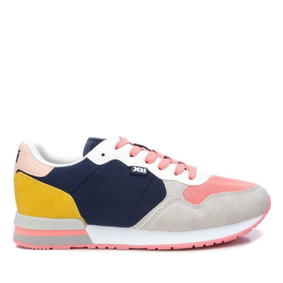 Navy Multi Coloured Trainer