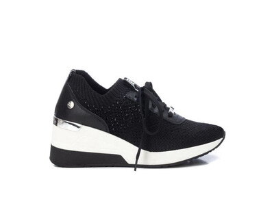 Black Runner Wedge
