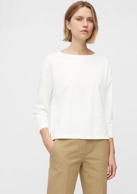 Paper White Long Sleeve Organic Cotton Top