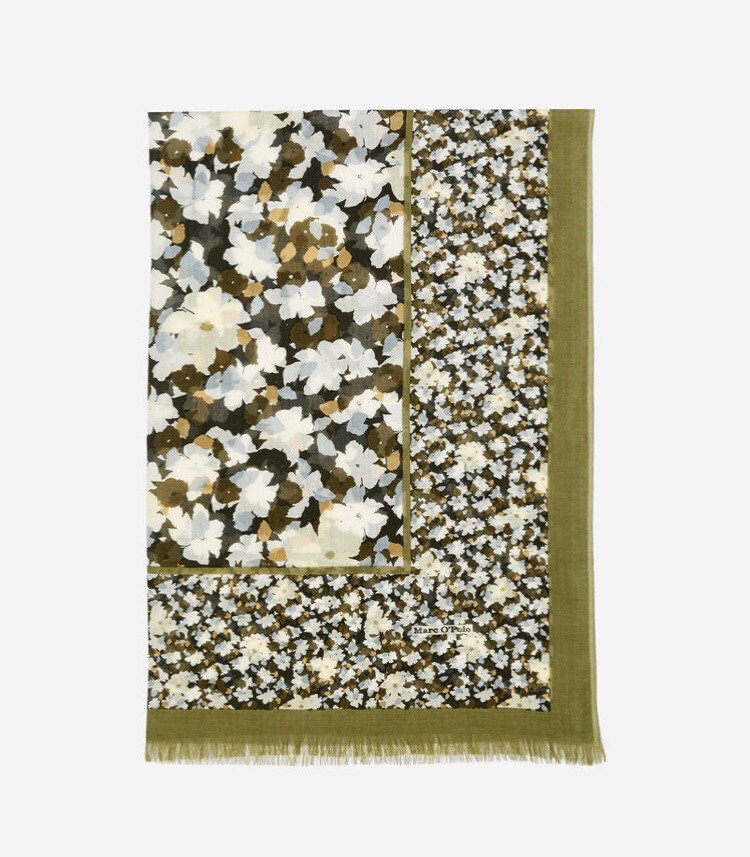 SUSTAINABLE Sage Multi Soft Cotton Scarf