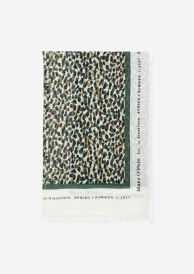 SUSTAINABLE Leopard Multi Soft Cotton Scarf