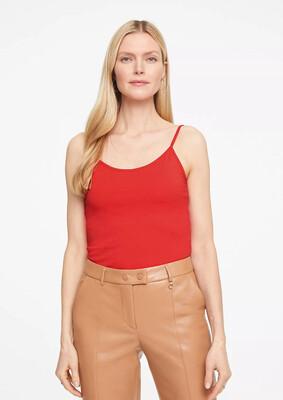 Coral Cotton Vest Top