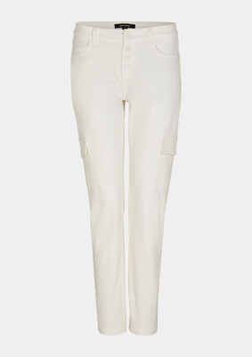 Cream Cargo Soft Touch Jeans