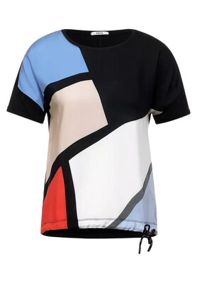 Navy Multi Geometric T-Shirt