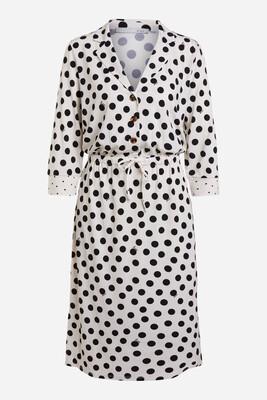 Love Dress - Off White & Black with Tie Waist