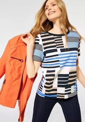Deep Blue Stripe T-Shirt