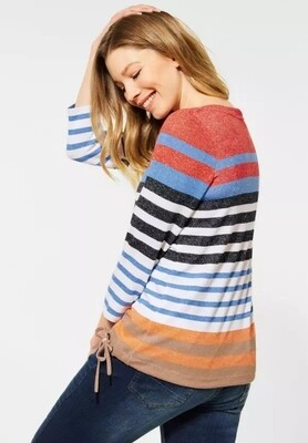 Orange Multi Stripe Top