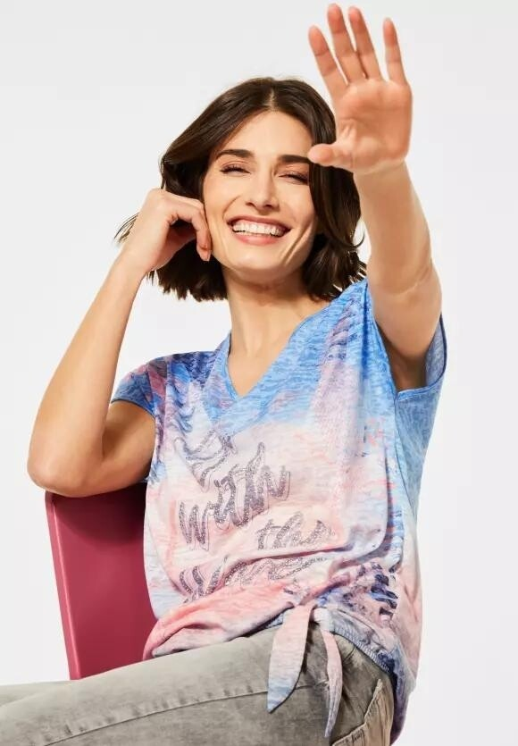'Go With the Waves' Blue T-Shirt