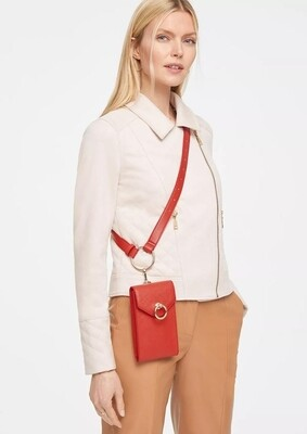 Red Faux Leather Cross Over Bag