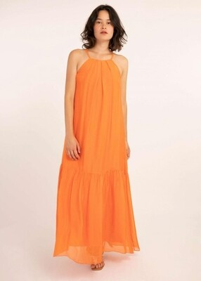 'Atika' Burnt Orange Maxi Dress