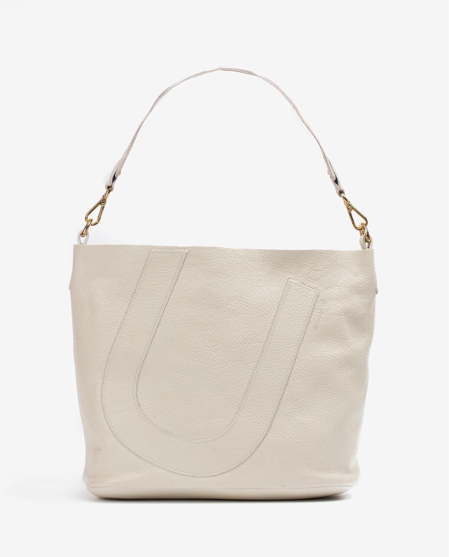 Zuni Ivory Leather Shopper
