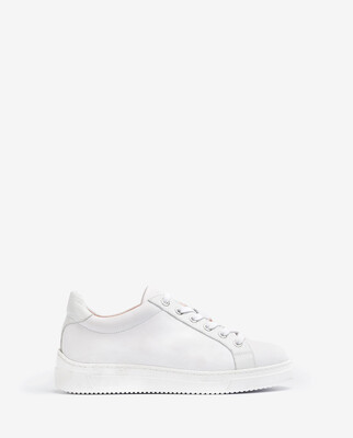 Franci All White Super Soft Leather Trainers