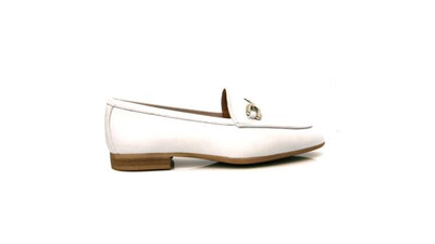 Dalcy White Leather Loafer