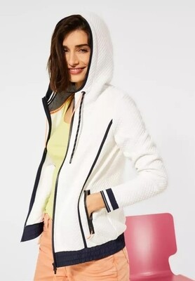 Structure Hooded Jacket Navy & White