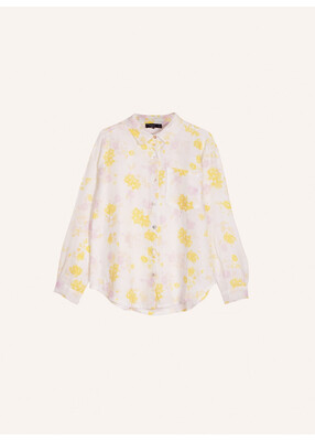 'Celosie' Yellow and Pink Floral Blouse