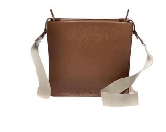 megara Tan Leather Saddle Bag