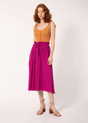 Fuchsia Maxi Skirt
