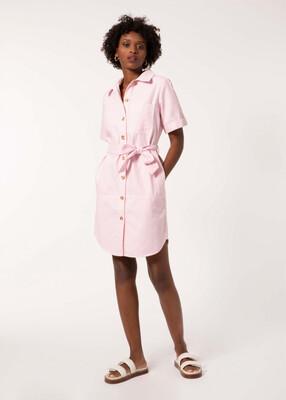 Pink & White Stripe Adelma Shirt Dress