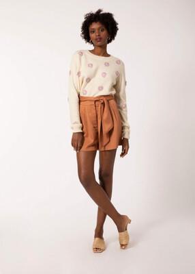 Lilac Flower Knit Jumper