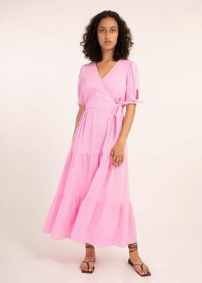 Pink Arum Wrap Knot Dress