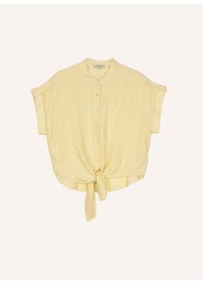 Yellow Sparkle Thread Camilla Shirt Top