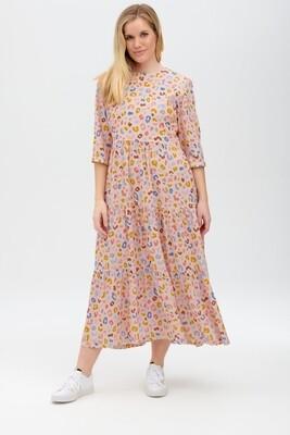 Zaina Pink, Arthouse Leopard Teired Dress