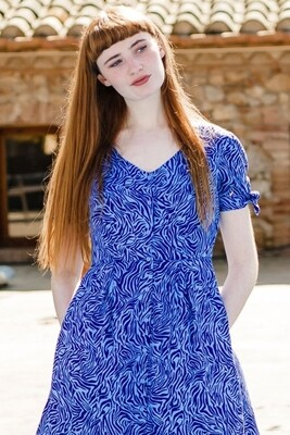 Veronica Blue, Poolside Wave Tea Dress