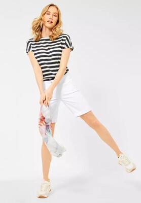White Soft Denim Shorts
