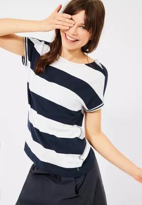Navy and White Stripe T-Shirt