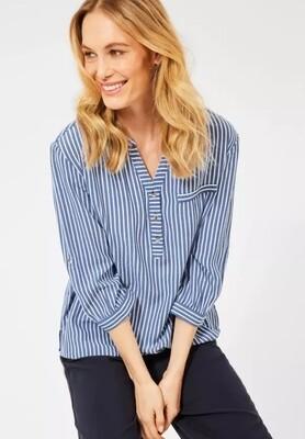 Blue & White Stripe Blouse