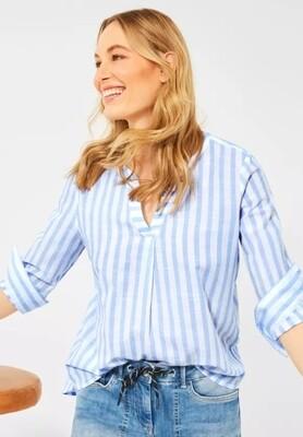 Baby Blue & White Stripe Blouse