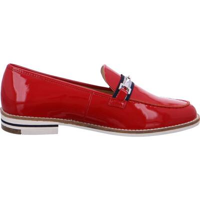 Kent Red Patent Slip On Loafer