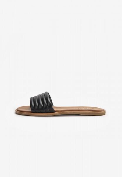 Black Leather Slider