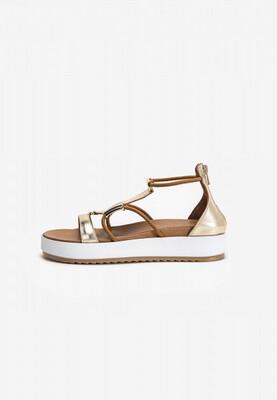 Gold Leather Gladiator Sandal